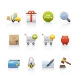 Icono fijado - compras Fotos de archivo libres de regalías