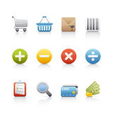 Icono fijado - compras Fotos de archivo