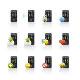 Icono fijado - Comunications móvil 2 Foto de archivo libre de regalías