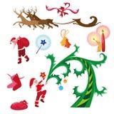 Icono fijado en un tema de la Navidad Imagenes de archivo