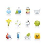 Icono fijado - médico y farmacia Foto de archivo