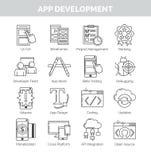 Icono fijado para el desarrollo de aplicación móvil Libre Illustration
