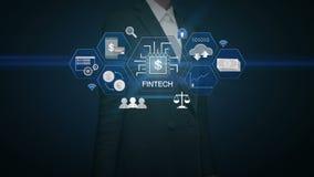 Icono financiero conmovedor del ejemplo de la tecnología de la empresaria y diverso gráfico ilustración del vector