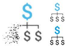 Icono financiero de semitono destrozado de la jerarquía del pixel libre illustration