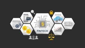 Icono financiero del ejemplo de la tecnología y diverso gráfico Versión 2 stock de ilustración