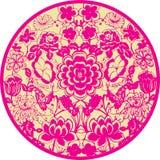 Icono floral Imagenes de archivo