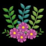 Icono floral hermoso de la decoración fotos de archivo
