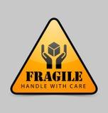 Icono frágil Imágenes de archivo libres de regalías