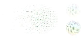 Icono fracturado de Dot Halftone Candy Abstract Sphere Ilustración del Vector
