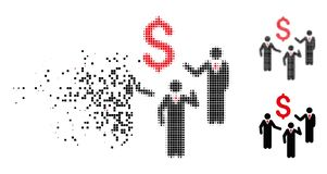Icono fracturado de las personas de Dot Halftone Financial Discussion Businessmen libre illustration