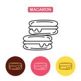 Icono francés de las galletas del macaron Imagen de archivo