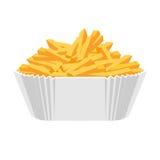 Icono frito de las patatas Diseño plano Fotos de archivo libres de regalías