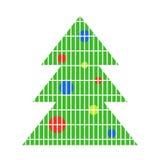 Icono geométrico del vector del árbol de navidad Imagen de archivo libre de regalías