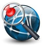 Icono global de la búsqueda Ilustración del vector Fotografía de archivo libre de regalías