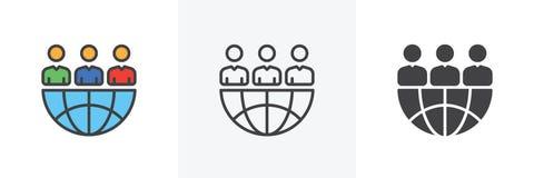 Icono global del negocio de la sociedad libre illustration