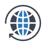 Icono global del vector del color del glyph de la recarga libre illustration
