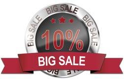 icono grande de la venta del 10% Imagen de archivo libre de regalías