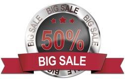 icono grande de plata de la venta del 50% Imagen de archivo