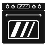 Icono grande del horno de gas, estilo simple libre illustration