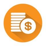 Icono grande grande para cualquier uso, vector EPS10 de las monedas Imagenes de archivo
