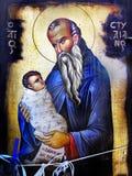 Icono griego Foto de archivo libre de regalías