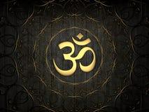 Icono hindú de OM Fotografía de archivo