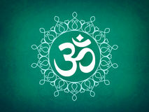 Icono hindú de OM Fotografía de archivo libre de regalías