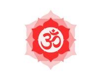 Icono hindú de OM Fotos de archivo libres de regalías
