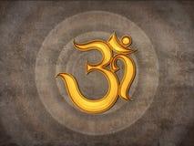 Icono hindú de OM Fotos de archivo