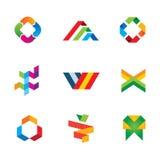 Icono humano extremo del símbolo del logotipo del éxito de la cinta de la innovación y de la creatividad Imágenes de archivo libres de regalías