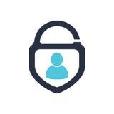 Icono humano Logo Design Element de la cerradura de la seguridad Icono humano Logo Design Element de la cerradura de la seguridad Fotos de archivo libres de regalías
