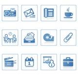 Icono I del asunto y de la oficina Imagen de archivo libre de regalías