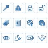 Icono I del Internet y de la seguridad Fotos de archivo