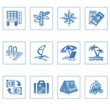 Icono I del recorrido y de las vacaciones Fotografía de archivo libre de regalías