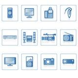Icono II de la electrónica Imagenes de archivo