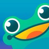 icono/imagen/logotipo de la rana Ejemplo del arte libre illustration