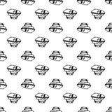 Icono inconsútil del hierro del garabato del modelo Bosquejo negro dibujado mano s?mbolo de la muestra Elemento de la decoraci?n  libre illustration