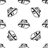 Icono inconsútil del hierro del garabato del modelo Bosquejo negro dibujado mano s?mbolo de la muestra Elemento de la decoraci?n  stock de ilustración