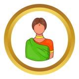 Icono indio de la mujer ilustración del vector