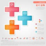 Icono infographic y del negocio más Imágenes de archivo libres de regalías