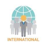 Icono internacional de la organización de Team Cooperation Concept Business Company de los empresarios Fotografía de archivo libre de regalías