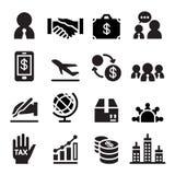 Icono internacional del negocio Imagenes de archivo