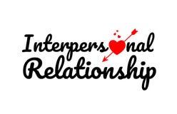 icono interpersonal del logotipo del diseño de la tipografía del texto de la palabra de la relación Fotografía de archivo
