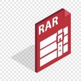 Icono isométrico de ArchiveRAR Fotografía de archivo libre de regalías