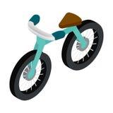 Icono isométrico de la bici 3d Imagen de archivo libre de regalías