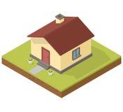 Icono isométrico de la casa Imagenes de archivo
