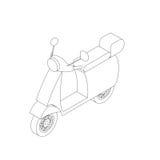 Icono isométrico de la moto Stock de ilustración