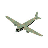 Icono isométrico de los militares del aeroplano Ilustración del Vector