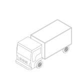 Icono isométrico del camión Ilustración del Vector
