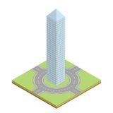 Icono isométrico del edificio Ilustración del Vector